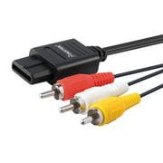 Insten AV Composite Cable For Nintendo 64 N64 / GameCube / SNES , Black