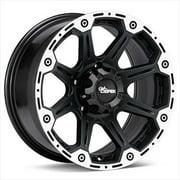 Cepek Wheel 1068402 Torque Black - chrome, 16 x 8, 5 x 5.5 Bolt Circle