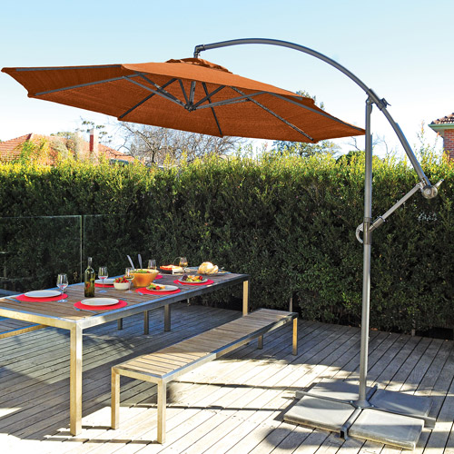 Coolaroo 12' Cantilever Umbrella, Terracotta by Gale Pacific USA Inc