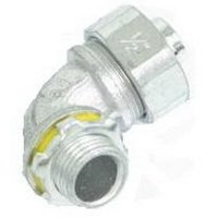 Crouse-Hinds LT7590 Zinc Electroplated Malleable Iron Non-Insulated Liquidtight 90 Degree Connector 3/4 Inch Liquidator™