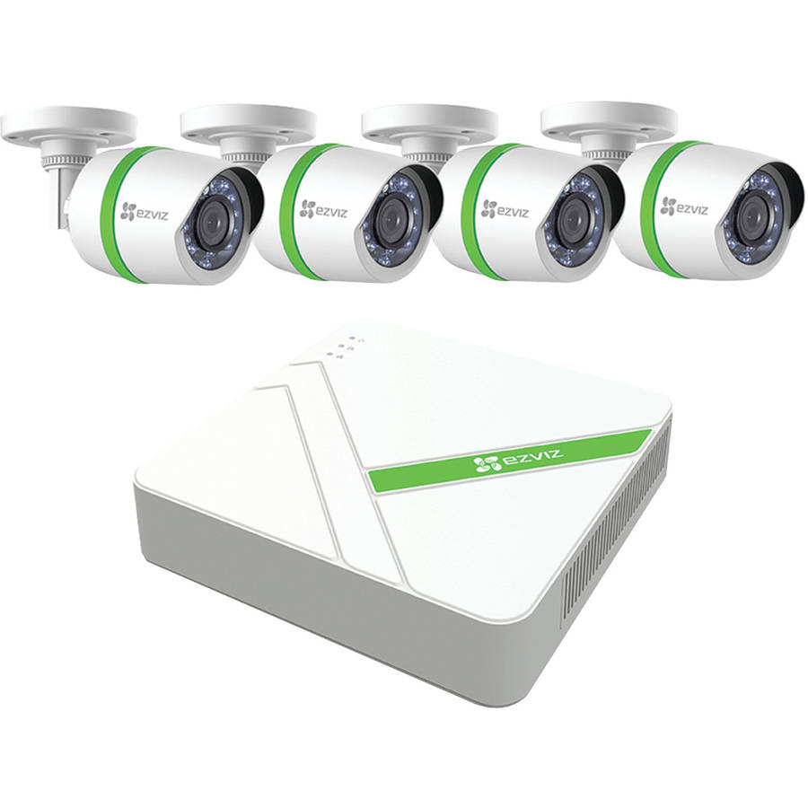 Ezviz BD-1424B1 Ezviz 4-Channel 1080p Analog Security System with 1TB HDD and 4 Weatherproof 1080p Bullet Cameras