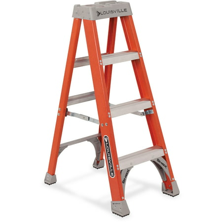 Louisville, 4-foot Fiberglass Step Ladder, 300 pound duty rating, FS1504