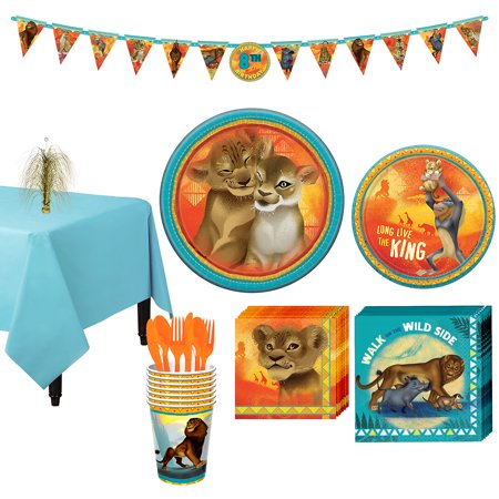 Party City Lion King Tableware Party Supplies for 8 Guests, 83 Pieces - Working At Party City