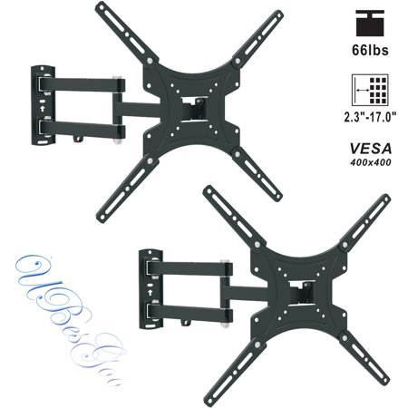 UBesGoo 2 pack Full Motion TV Wall Mount Bracket LCD Display for 13 32 40 42 47 50