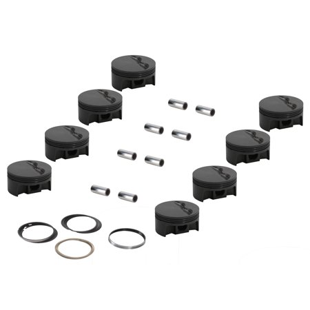 MAHLE 930200330 Forged Flat Top Pistons, 4.030 Bore, SBC