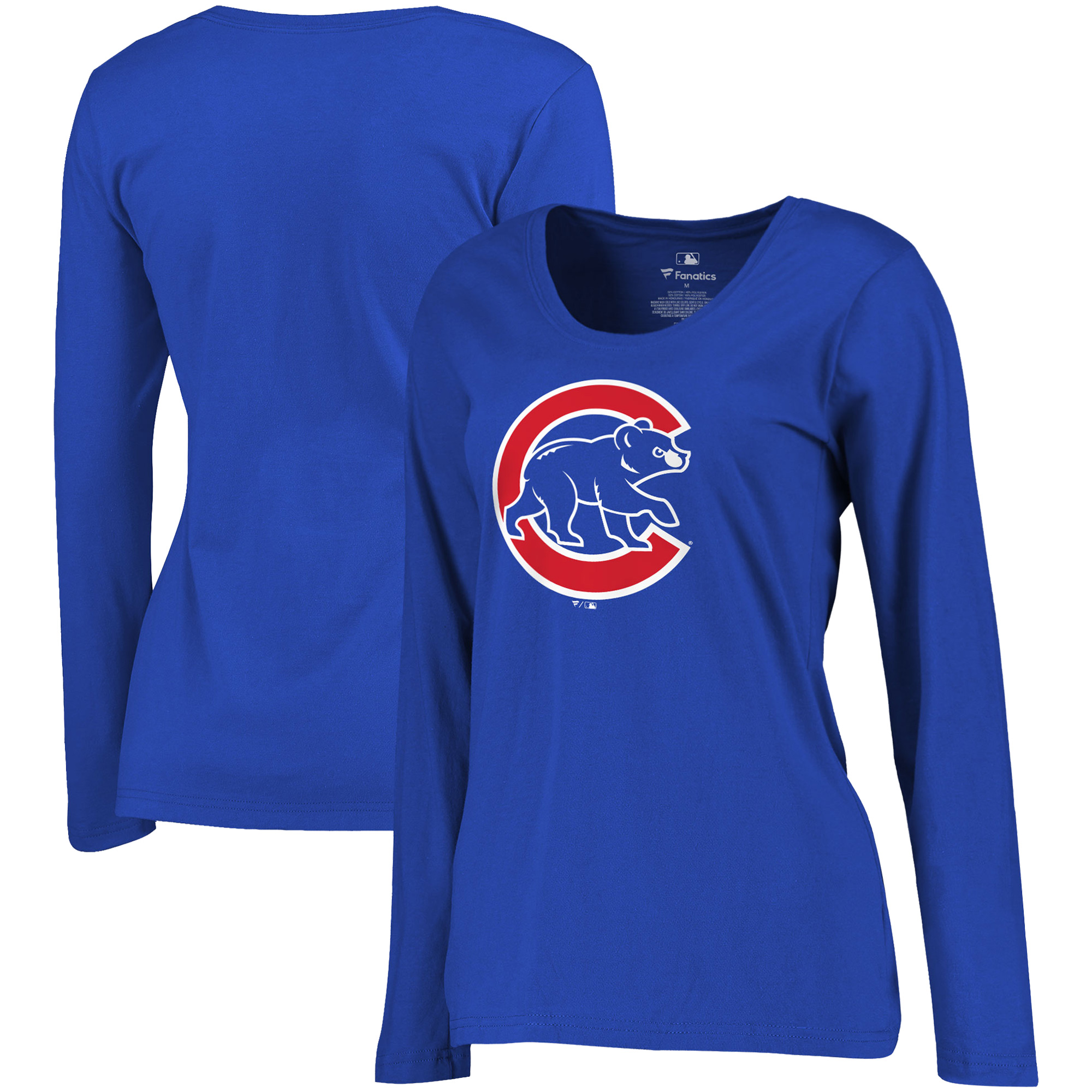 Chicago Cubs Fanatics Branded Women's Plus Size Primary Logo Long Sleeve T-Shirt - Royal