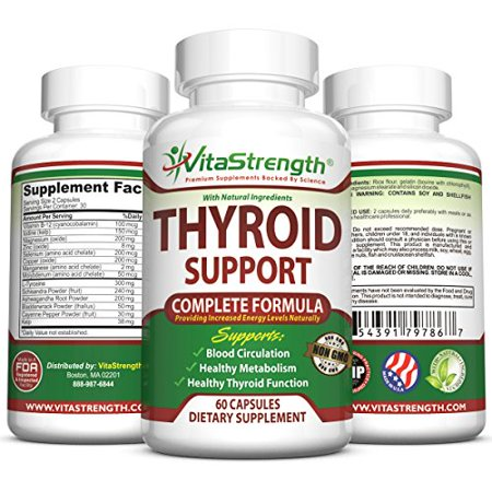 Premium Thyroid Support - Complete Formula to Help Weight Loss & Improve Energy with Iodine, Bladderwrack, Kelp, B12 & More -Best Thyroid Supplements for