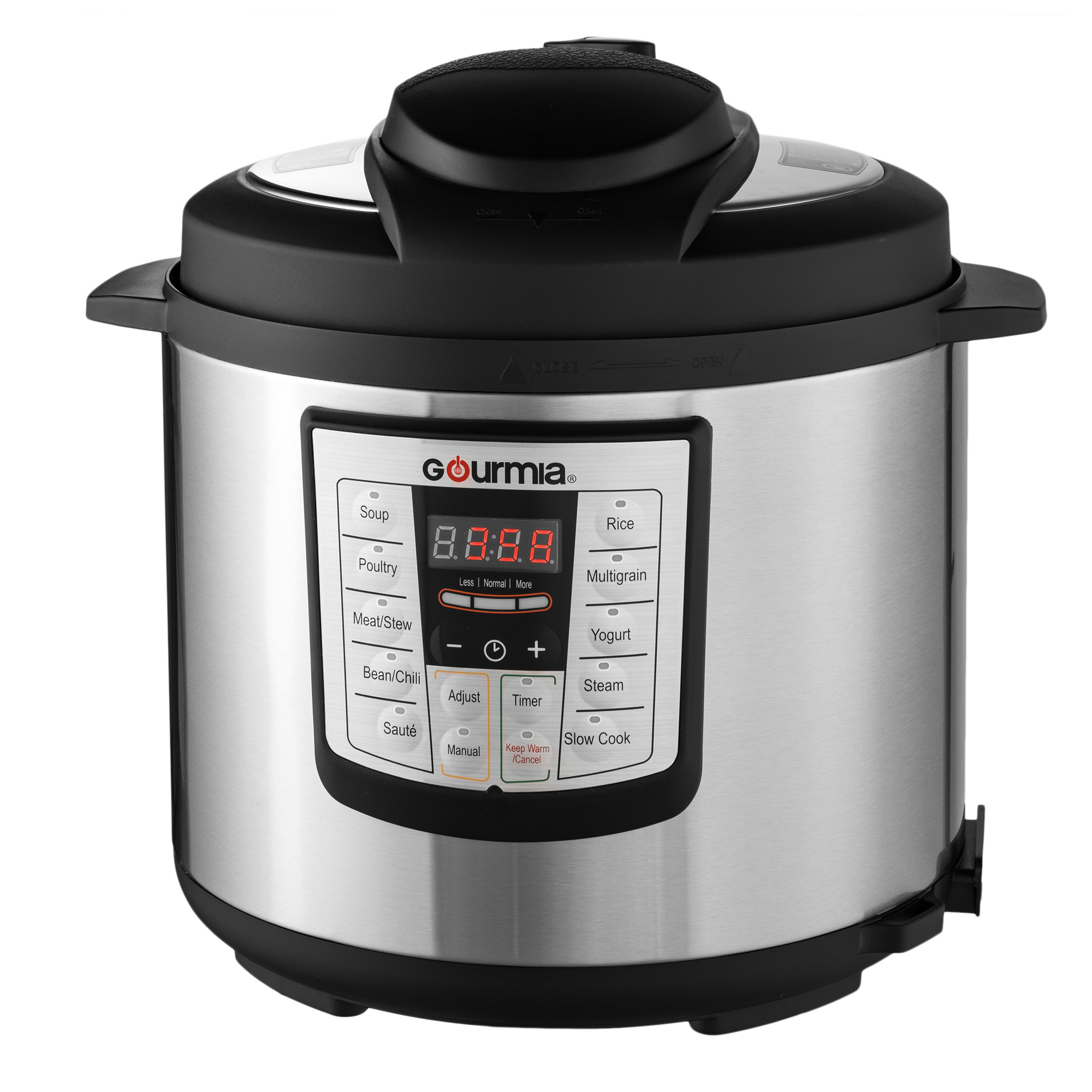 Gourmia GP600 Stainless Steel 6-Quart Smartpot 8-in-1 Programmable MultiFunction Pressure Cooker