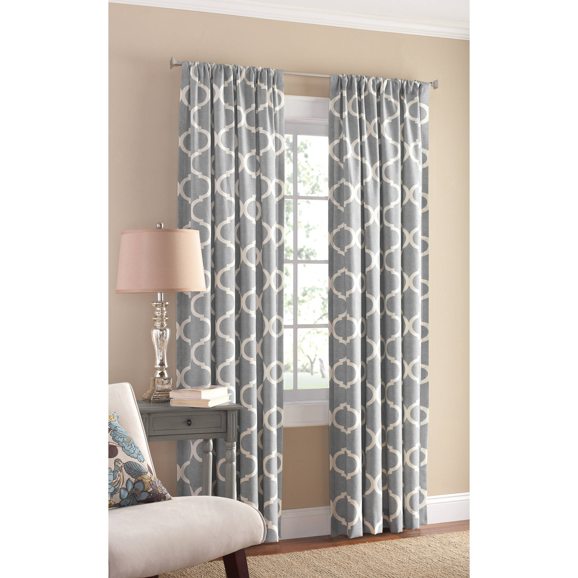 Mainstays Canvas Iron Work Curtain Panel