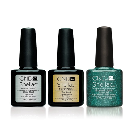 CND - Shellac Combo - Base, Top & Emerald