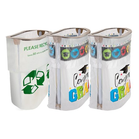 Party City Graduation Clean-Up Kit, With Matching Reusable Pop-Up Trash Bins, Plus a Handy Recycling Bin - Party City Hiring
