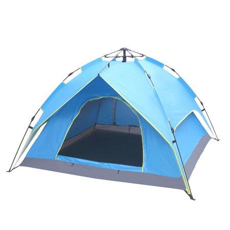 Ktaxon 2-3 Person Camping Tent Waterproof Automatic Tent Double-Deck,Two-Door ()