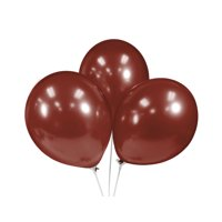 """Balloon hand Pump and 72pc 12"""" Helium quality Latex Party Balloons (Burgundy)"""