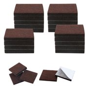 """24pcs Felt Furniture Pads Square 3/4"""" Floor Protector for Chair Table Leg"""