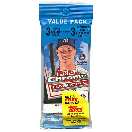 Mlb 2017 Topps Chrome Baseball Cards Trading Card Value Pack