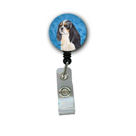 Spaniel Badge (Carolines Treasures SC9120BU-BR Cavalier Spaniel Retractable Badge Reel Or Id Holder With Clip)