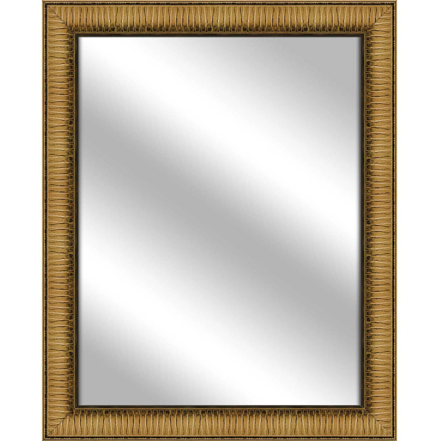 Vanity Mirror, Antique Gold, 26.375x32.375 by PTM Images
