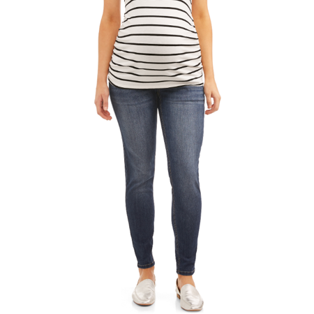 Time and Tru Maternity Full Panel 5 Pocket Medium Wash Skinny (Best Maternity Jeans 2019 Uk)