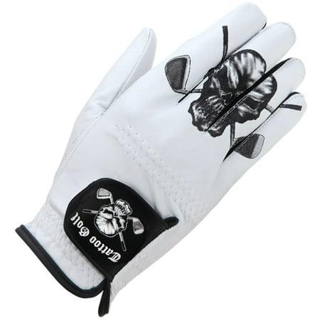 White Cabretta Leather Men's Golf Glove (For Left Handed Golfers) ()