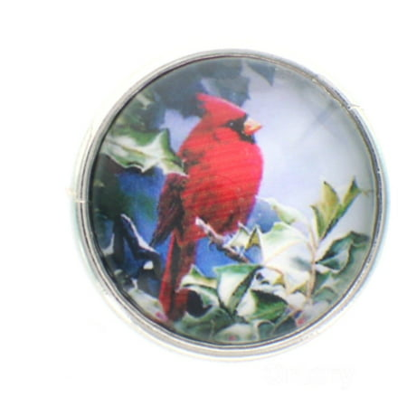 18mm Snap Charms Buttons Interchangeable Jewelry Cardinal Bird](Jewelry Snaps)