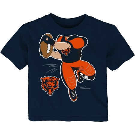Toddler Navy Chicago Bears Receiver T-Shirt