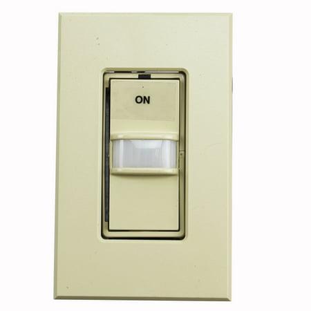Lightolier Intellisight Occupancy Sensing Dimmer ITSEBUI 1000W 120 Or 277Vac 60 Hz 3-Way Multi Location Wall Control; Ivory