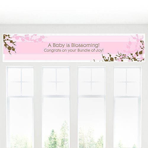 Cherry Blossom - Baby Shower Decorations Party Banner