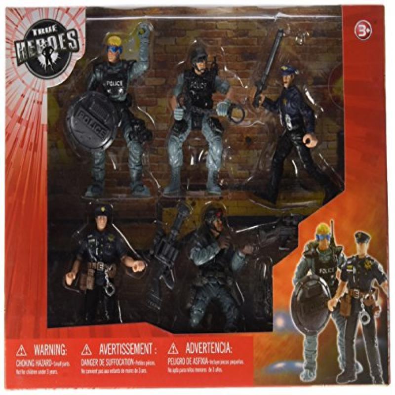 Toys 'R' Us True Heroes Emergency Hero Police 5 Pack