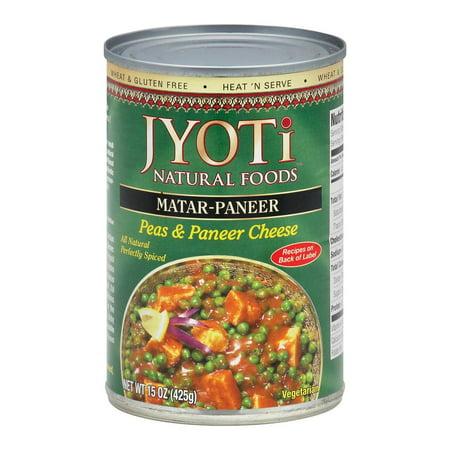 Jyoti Cuisine India Matar Paneer - Pack of 12 - 15 Oz.