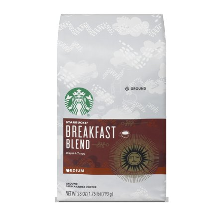 Starbucks Breakfast Blend Medium Roast Ground Coffee, 28-ounce