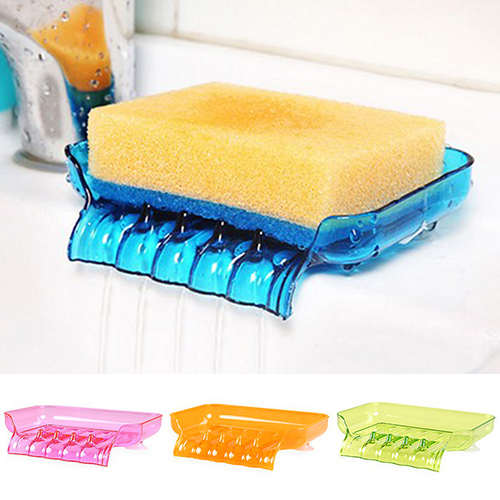 Moderna New Suction Cup Water Drain Soap Dish Tray Sponge Holder Bathroom Kitchen Tool