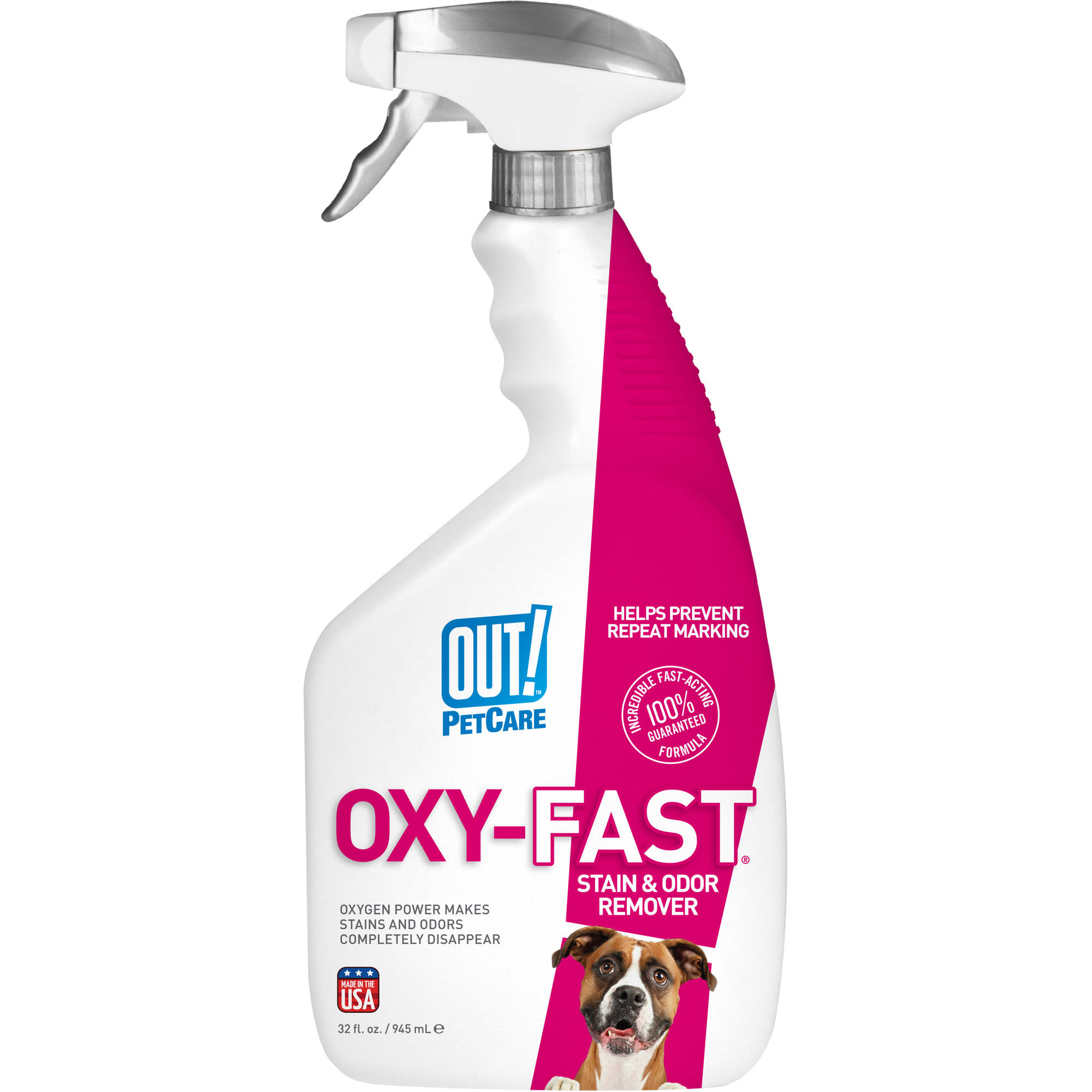 OUT! Oxy Stain & Odor Remover Spray, 32 oz