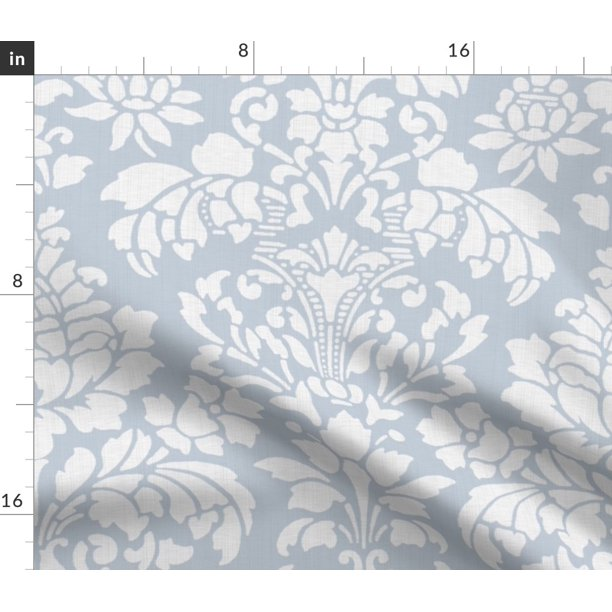 Damask Victorian Floral Brocade Ornate Luxe Fabric Printed By Spoonflower Bty Walmart Com Walmart Com