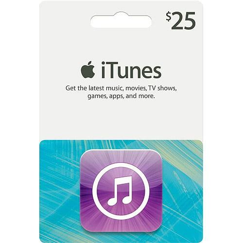 Apple iTunes $25 Gift Card - Walmart.com
