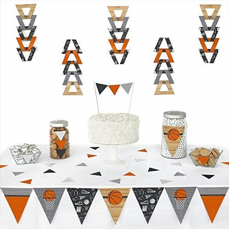 Nothin' But Net - Basketball - Triangle Party Decoration Kit - 72 Pieces (Basketball Party Decor)