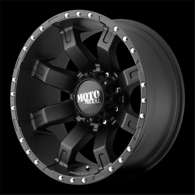 Wheel Pros 821280744N Mo968 Wheel - Satin Black With Clearcoat, 8 x 165