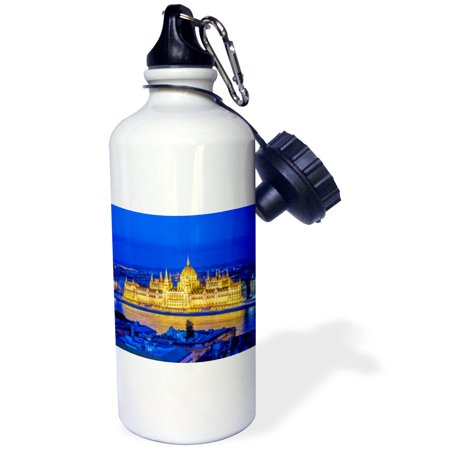 Hungarian Water - 3dRose Hungarian Parliament at Twilight., Sports Water Bottle, 21oz