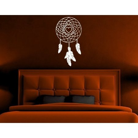 dream catcher with hearts wall decal - wall decal, sticker, mural