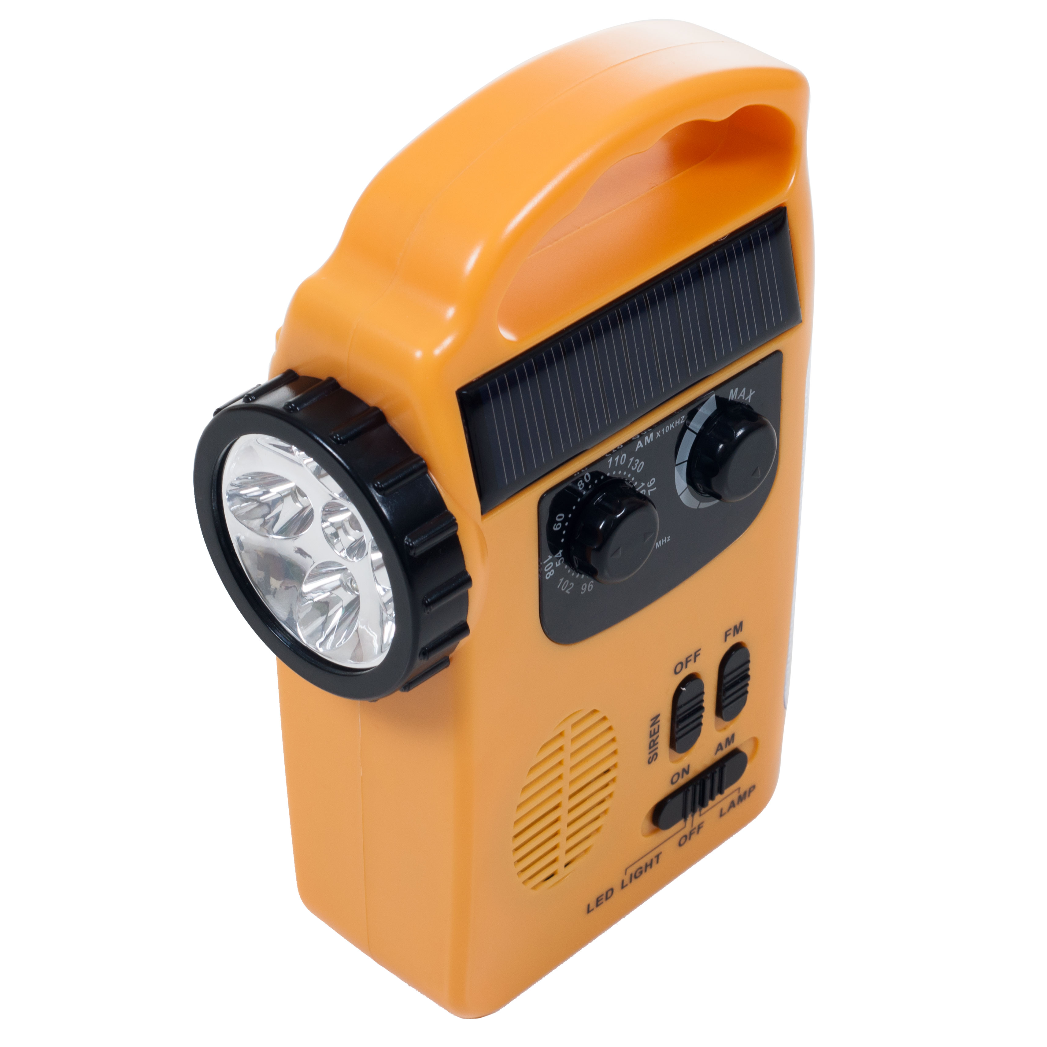 Emergency Flashlight, Radio & Siren - 4 Power Supplies by Stalwart