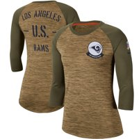 Los Angeles Rams Nike Women's 2019 Salute to Service Legend Scoopneck Raglan 3/4 Sleeve T-Shirt - Khaki