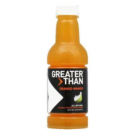 Greater Than Sports Drink  Coconut Water  Orange Mango
