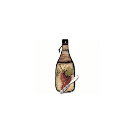 Tuscan Collage Bottle Shaped Cheese Server Set ()