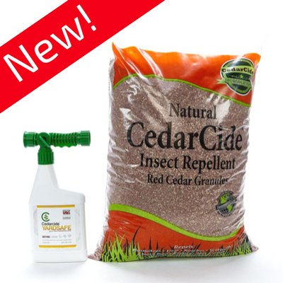 Cedarcide Outdoor Lawn and Garden Treatment Kit (Small) Includes Yarsafe Cedar Oil Bug Killing Ready-to-Use Quart and Insect Repelling Granules Kills and Repels Fleas, Ants, Mites, Mosquitoes (Bug Repellent Oil)