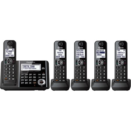 Panasonic Cordless Phone and Answering Machine with 5 Handsets by