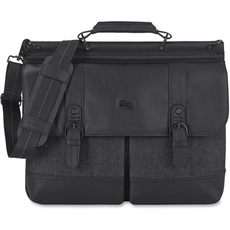 "Solo Bradford Carrying Case [Briefcase] for 15.6"" Notebook - Black, Gray (exe3364)"