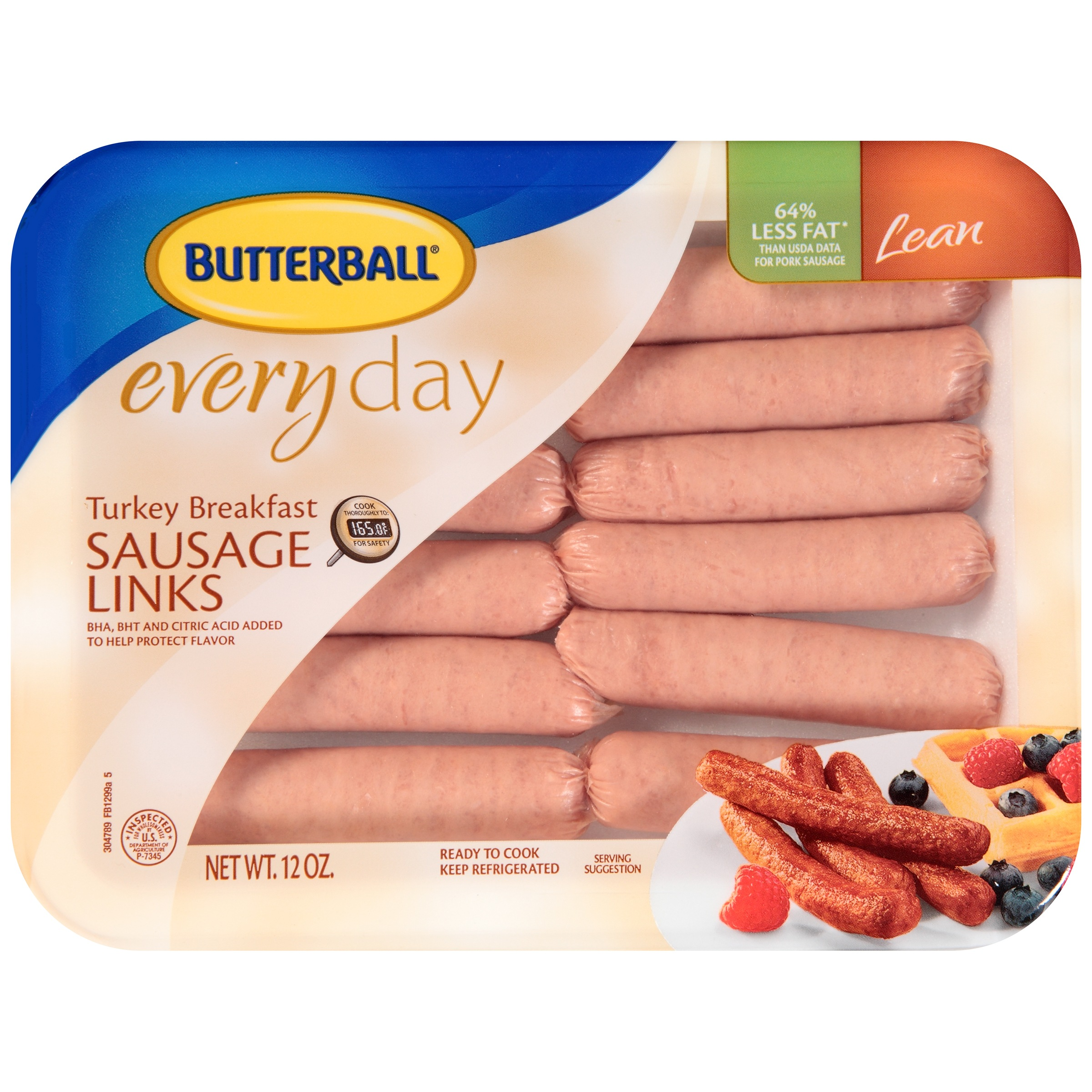 Butterball® Everyday Lean Turkey Breakfast Sausage Links 12 oz. Tray