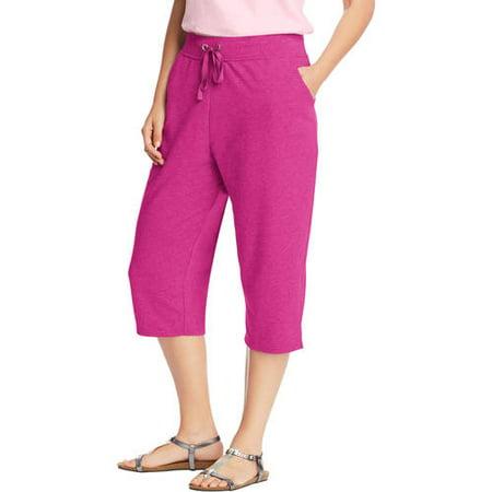 4d04943ab08b Just My Size - Women's plus-size french terry pocket capri - Walmart.com