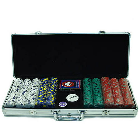 Trademark Poker 500pc 13g Pro Clay Chips with Aluminum Case