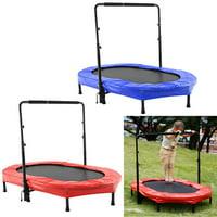 "Rebounder Trampoline 55.8 x 35.5"" Mini Rebounder Trampoline with Adjustable Handle for Two Kids, Parent-Child Trampoline"