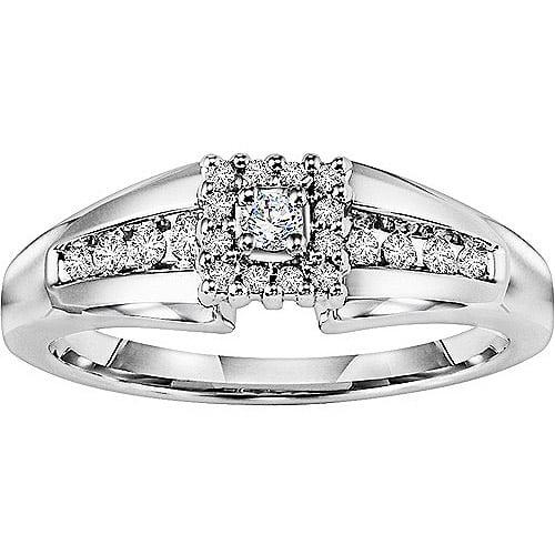 Keepsake Promise 1/5 Carat T.W. Certified Diamond 14kt White Gold Wedding Ring